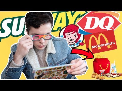 I only ate KIDS FAST FOOD MEALS for 24 hours...
