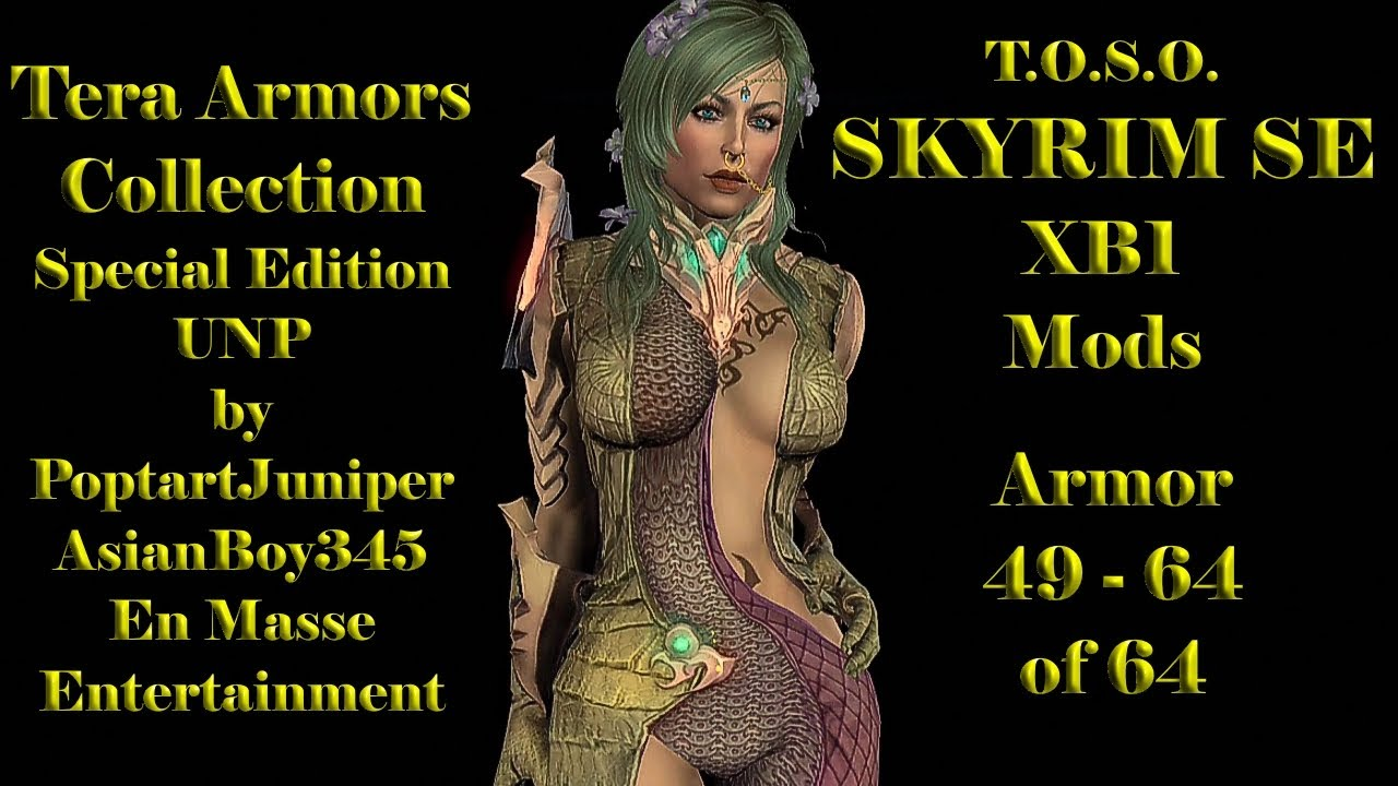 Skyrim Mods XB1 TERA Armors Collection 49 - 64 Special Edition UNP Females  And Mals Sexy Robes TOSO