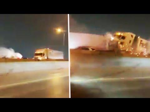 FedEx Truck Slams Into 100-Car Pileup