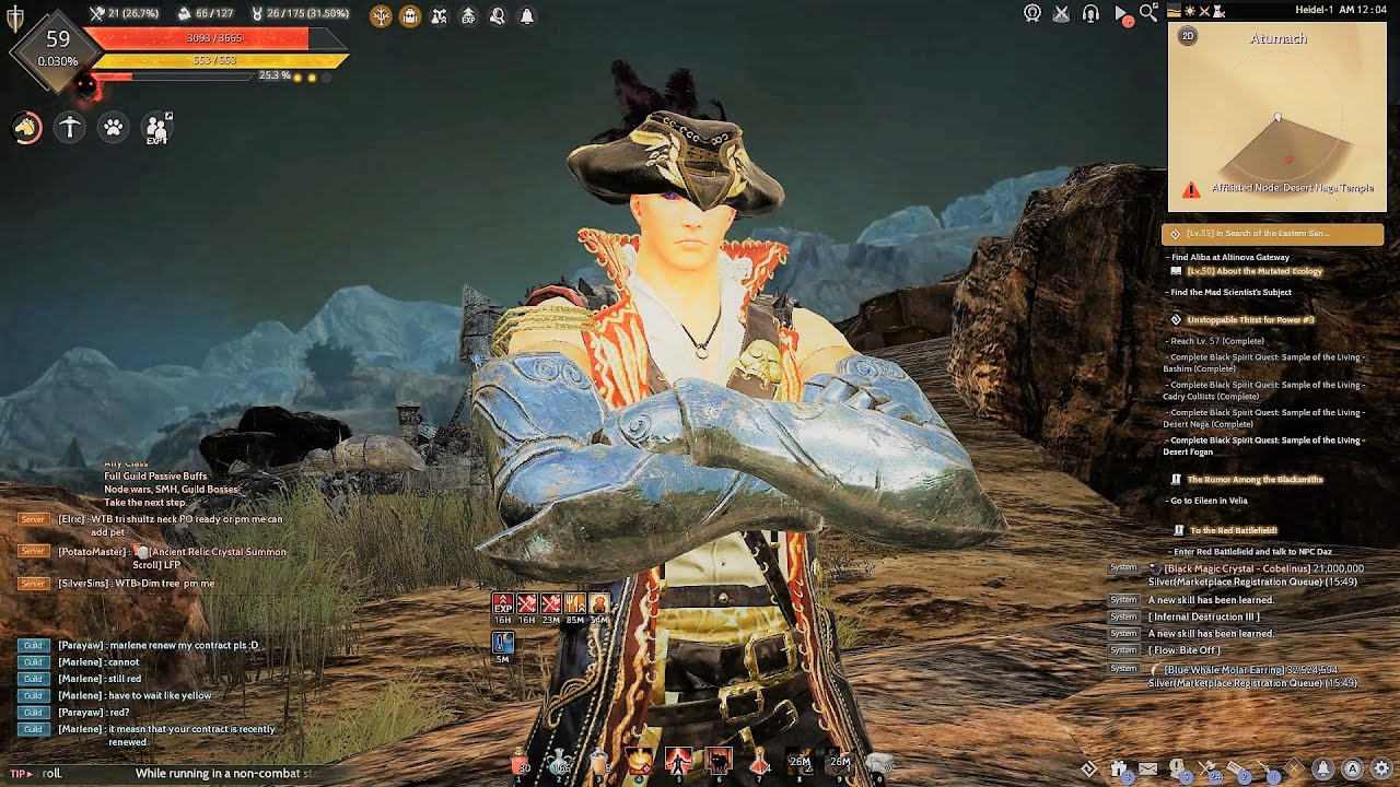 BDO Striker Desert Naga Grind Level 59 Progression