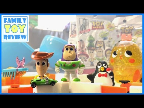 Disney Toy Story Minis Toy Collection Woody Buzz Lightyear Toy Story 4 Movie Surprise Egg 토이스토리