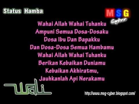 Wali Band   Status Hamba + Lirik Lagu   YouTube
