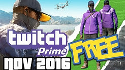 Twitch Prime Loot November 2016 - Watch Dogs 2*, This War of Mine and etc