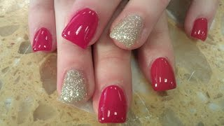 HOW TO GEL POLISH ON ACRYLIC NAILS PART 1