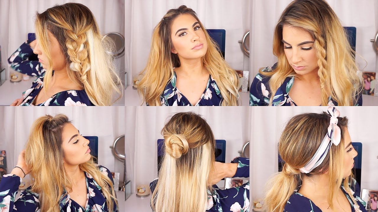 Cute And Easy Hairstyles For Thin Hair W Extensions Youtube