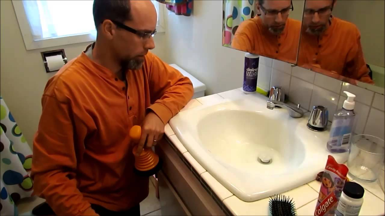 How to easily unclog a sink drain naturally - YouTube