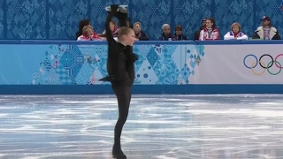 Юлия Липницкая вращение. Фрагмент тренировки КП личных соревнований. ОИ 2014