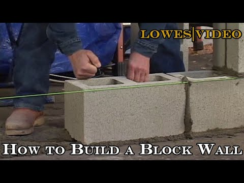 How to Build a Block Wall Lay the Blocks