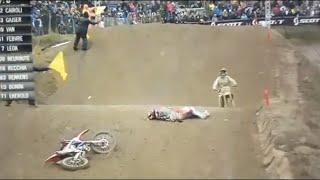 HUGE Tim Gajser Crash At Mantova