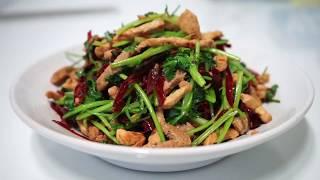香辣肉丝/Spicy ShrImps/돼지고기 고수볶음요리