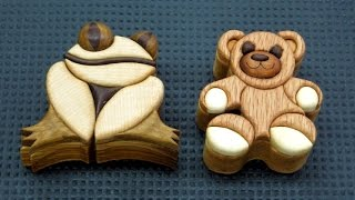 Keepsake Wood Intarsia Boxes