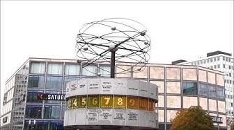 Weltzeituhr, Alexanderplatz, Uhrzeit, Weltzeit, Zeitzone, UTC, Berlin,  Erich John,