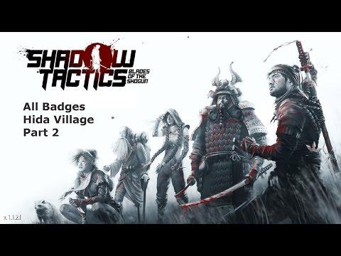 Shadow Tactics Blade of the Shogun Gameplay All Badge Mission 6 Hida Village Part 2