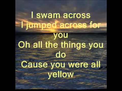 Coldplay - Yellow With Lyrics - Full HQ Song - Coldplay Yellow