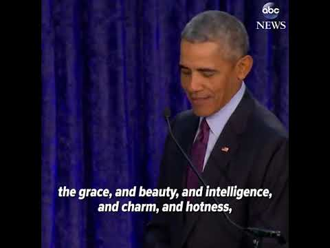 Watch Barack Obama praising Michelle Obama's portrait | ABC News