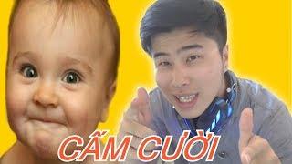 Thử Thách Cấm Cười ( Laughing Challege )   360hot REN Vlogs