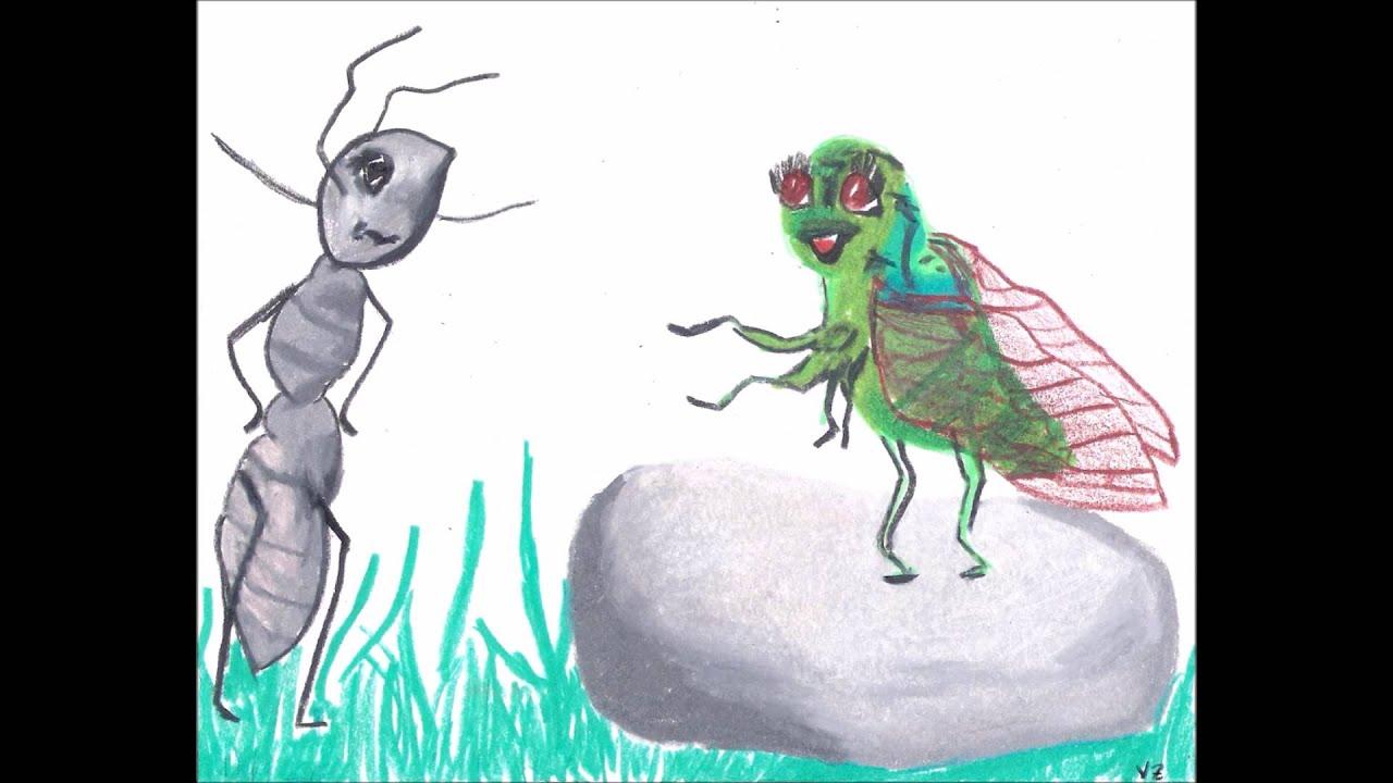 La cigale et la fourmi de jean de la fontaine par - Dessin de cigale ...