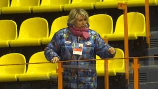 Т.А.Тарасова смотрит выступление А.Сотниковой ЧЕ-2013 FD
