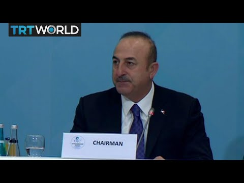 OIC Meeting: Turkish Foreign Minister Cavusoglu speaks at the summit's opening