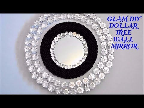 GLAM DIY DOLLAR TREE WALL MIRROR