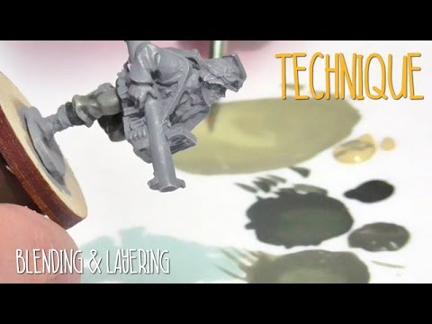 Painting techniques: Blending and layering
