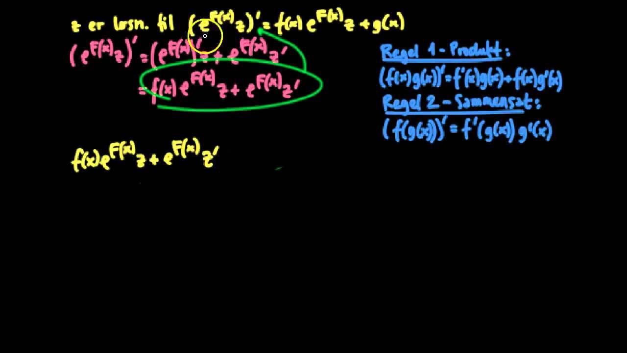 Første ordens lineære differentielligninger - bevis