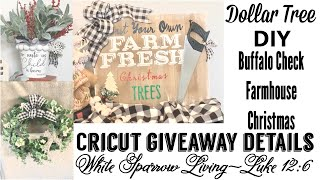 Diy Buffalo Check Dollar Tree Rustic Farmhouse Christmas Decor Andamp Cricut Giveaway Details