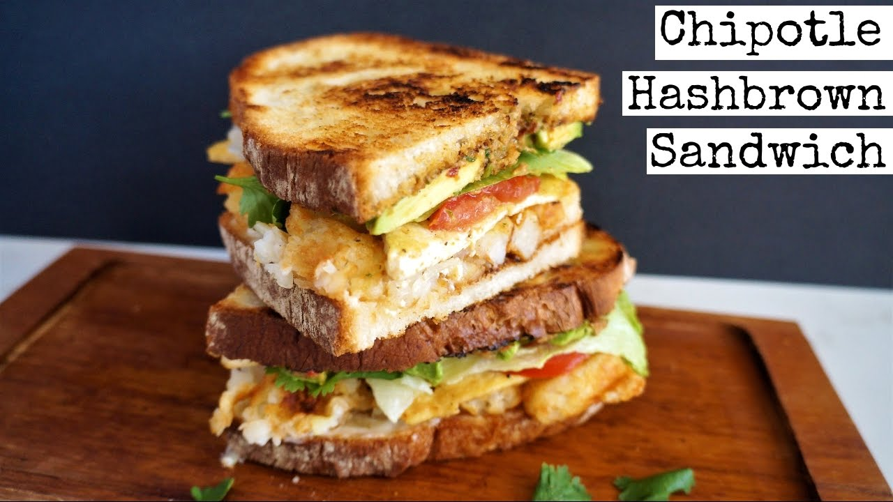 Vegan Chipotle Hashbrown Sandwich With Secret Sauce Youtube