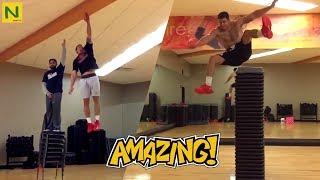 垂直跳びが神の領域!180cmを飛び越える男