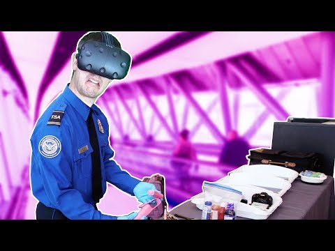 BECOMING A TSA AGENT + FINDING HIDDEN STASHES IN VR! - TSA Frisky VR HTC VIVE Demo Gameplay