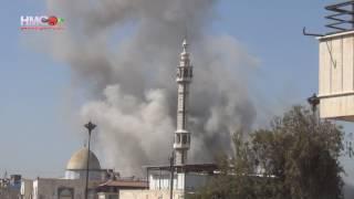 الأسد يأمر بقصف حي الوعر بعشرات الغارات الجوية