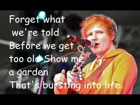 Ed Sheeran - Chasing Cars (cover+lyrics)