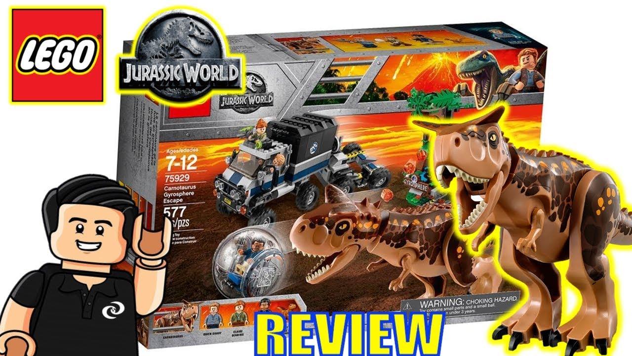 Jurassic World Lego Carnotaurus Gyrosphere Escape Set 75929 Review Y