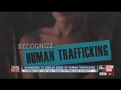 Business to display signs of human trafficking