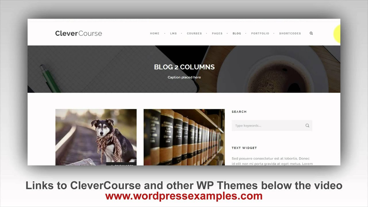 Sell Your Online Course with the Clever Course Wordpress Theme Demo ...