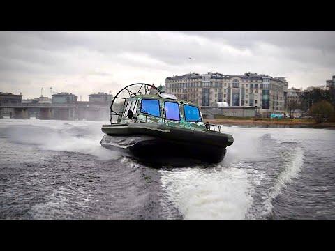 Аэролодка 500 сил - 180 км/ч по воде. Форты финского залива