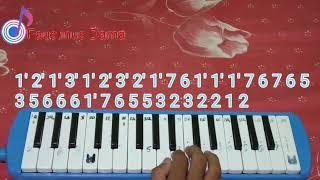 Not pianika masa SMA cover Faustinus Dama