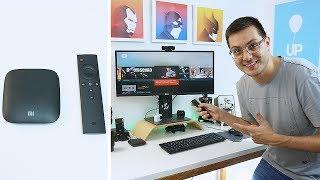 Xiaomi Mi Box Review! Isso SIM É SMART TV!  BARATO e MUITO BOM!
