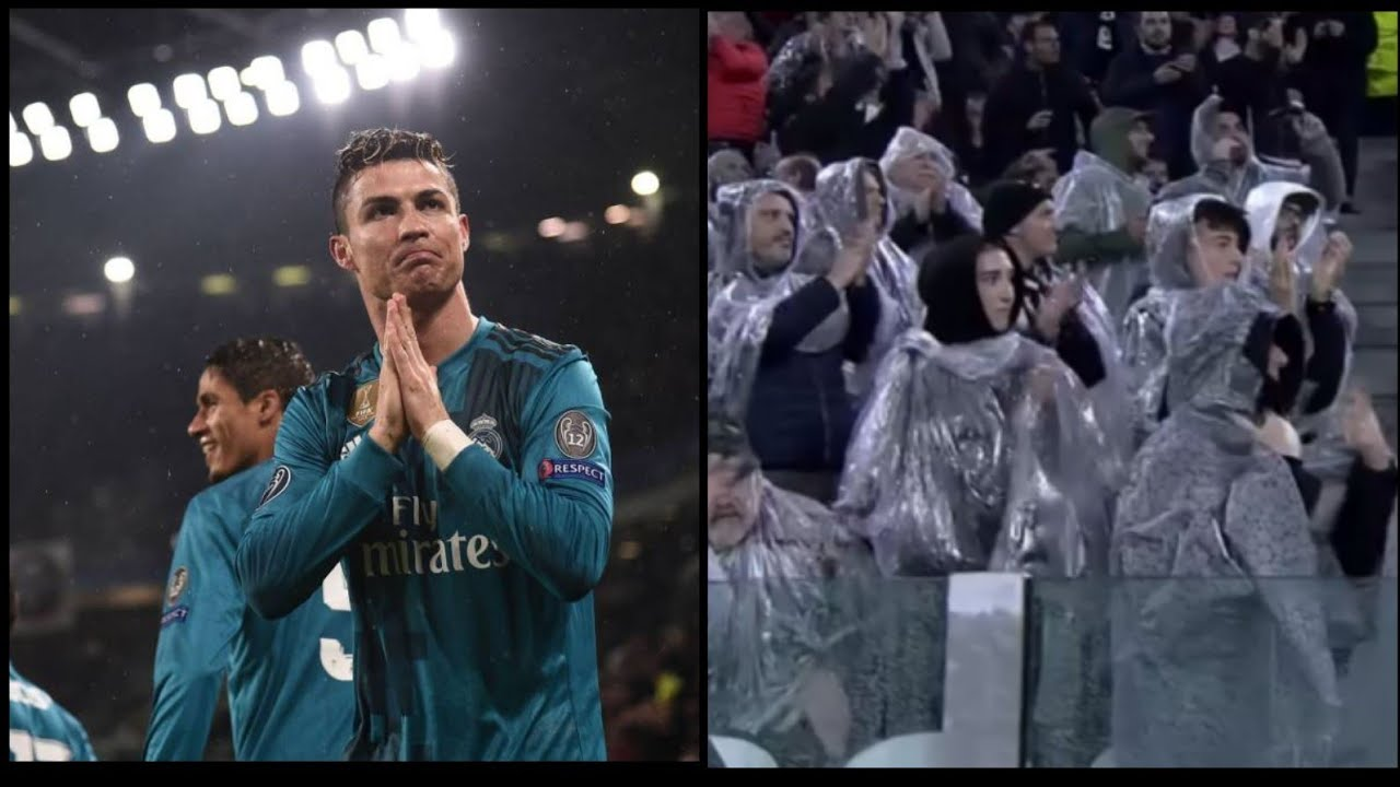 Resultat d'imatges de real madrid juventus la aficion aplaude a cristiano ronaldo 3-0