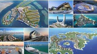 أضخم 10 مشاريع مستقبلية في قطر | منها جزر صناعية - مدن عملاقة - ملاعب - مطارات.....
