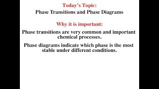 Phase Transitions and Phase Diagrams
