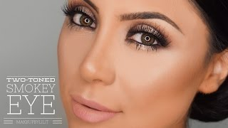 two toned smokey eye makeup tutorial   makeupbylilit
