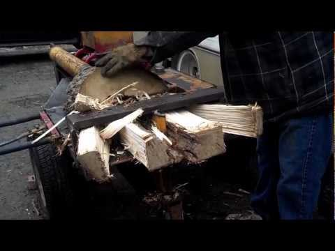 Dad's Homemade DIY Log / Wood Splitter