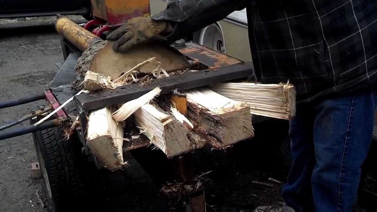 dads homemade diy log wood splitter youtube - Home Built Log Splitter Plans