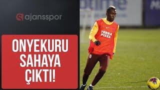 TRANSFER - Galatasaray'da Henry Onyekuru sahaya çıktı I Fatih Terim I Abdürrahim Albayrak