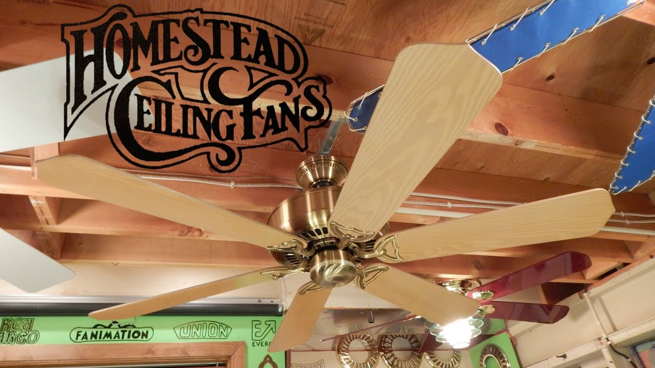 Homestead geneva ceiling fan youtube homestead geneva ceiling fan aloadofball Images