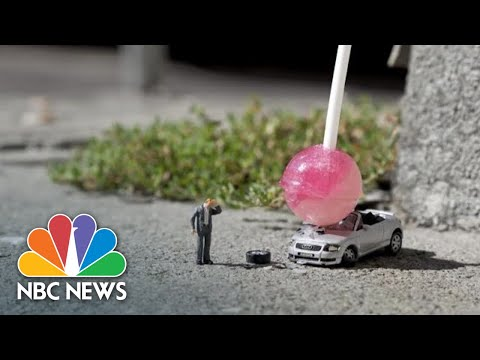 Artist Creates Miniature Dramas On London's Streets | NBC News