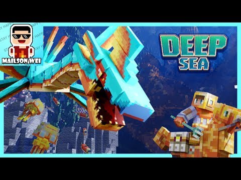 Playing free Minecraft Deep Sea Mash Up pack with my friend