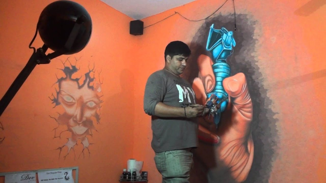 sc 1 st  YouTube & tattoo shop wall art by Dev 9313666999 - YouTube