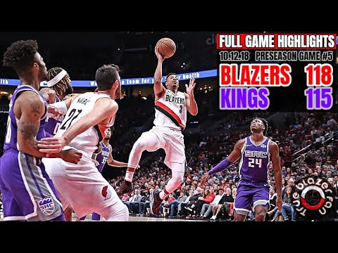 Portland Trail Blazers vs Sacramento Kings - Full Game Highlights - October 12, 2018